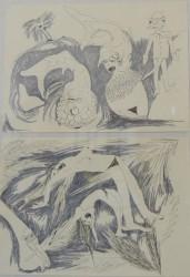 Pauline Curnier Jardin, Grotta Profunda drawings