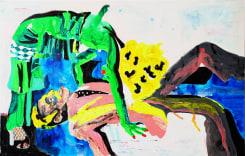 Charlotte Schleiffert, Green woman with man (drawing)