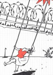 Dick Verdult, Dibujos Pasajeros (Schommelvrouw prikkeldraad)