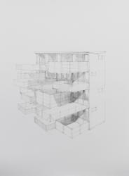 Frank Halmans, Flat met tuinen (Apartment building with gardens)