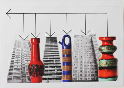 Stephen Willats, Buildings and Vases No.7
