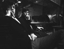 John 'Hoppy' Hopkins, Mick Jagger and Charlie Watts, London