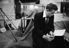 Bob Willoughby, James Dean on the set of 'Rebel Without A Cause'