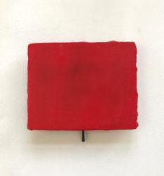 Siegfried Cremer, Rotes Bild mit Mini-Mal aus Graphit