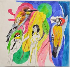 Charlotte Schleiffert, Girl with three birds