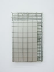 Lucas Lenglet, untitled (cage and canvas_silver)