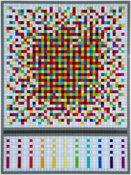 Tom Woestenborghs, Abstract Composition 8 Rainbow Buckshot