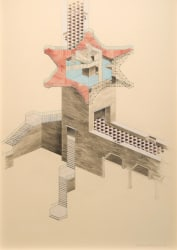Charles Avery, Untitled (Axonometric view of concave station...)