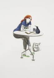 Charles Avery, Untitled (Red-headed girl with weak chin)