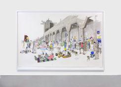 Charles Avery, Untitled (City Wall market scene)