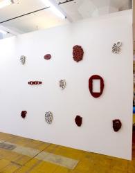 Simon Benson, wall objects gesso/mdf