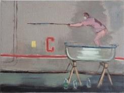 Aaron van Erp, Man in badkuip met harpoen