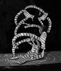 Nico Krijno, Sculpture Study with Plaster and Paint