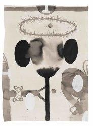 Terry Thompson, Crown and Sceptre, gem. techniek op papier, 65 X 4
