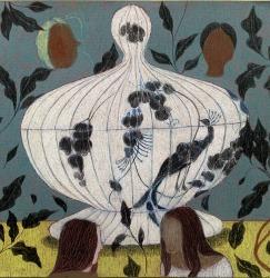 Keetje Mans, Peacock vase