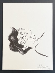 Joëlle Dubois, series 'Diary Drawings' (girl on nose)