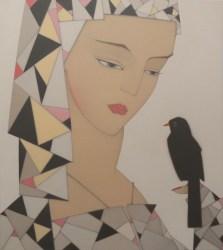Peter Vos, Girl with Blackbird