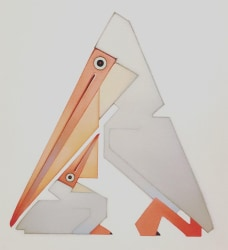 Peter Vos, Pelican with Chick