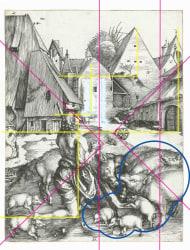 Laurence Aëgerter, The Prodigal Son amid the Swines (Dürer)