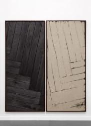 Davide Balula, Burnt Painting, Imprint of the Burnt Painting (Chevron Spread #4)