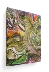 Rob Bouwman, Untitled (autumn leaves) p0332020 40x30cm oil/alkyd wood.2020