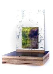 Rob Bouwman, Untitled (blue cheese) 35hx 25wx27d cm oil/alkyd wood. 2014