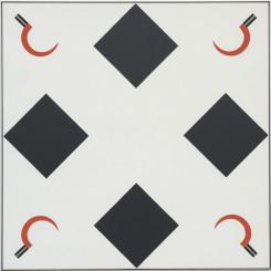 Jan Roeland, Compositie met vier sikkels en vierkanten