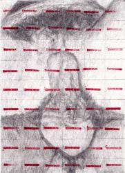 Betty Tompkins, Censored Grid #15