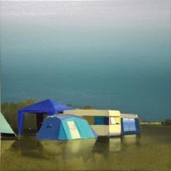 Ulf Puder, Walchensee, blaue Landschaft