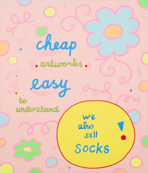 Lily van der Stokker, We also sell socks