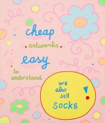 Lily van der Stokker, We also sell socks