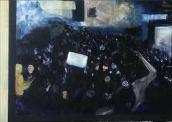 Atousa Bandeh Ghiasabadi, Dark blue painting of Baghdad