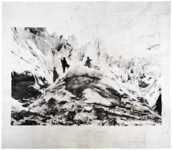 "Douglas Mandry, Alpinists on the glacier of Morteratsch, ca. 1910 - series ""Monuments"""