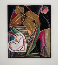 Aurélie Gravas, Black painting 2 (les trois palettes)