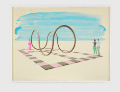 Charles Avery, Untitled (Design for the Square Circle, Henge)