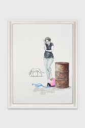 Charles Avery, Untitled (Smoking girl with Buoy)