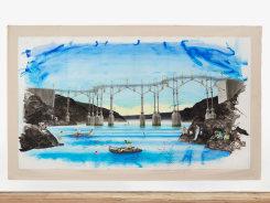 Charles Avery, Untitled (Eel fishing beneath the bridge (Era of the Pentagon)
