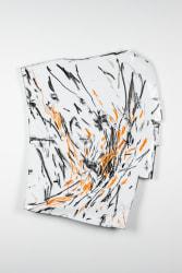 Steven Antonio Manes, Disegna Schiaffeggiato Arancione e Nero Sur Blanco