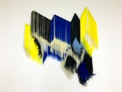 Hiva Alizadeh, Untitled (b&w, blue and yellow)