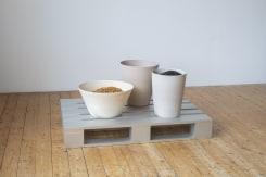 Lucas Lenglet, Untitled (vessels on pallet)
