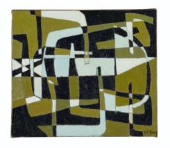 Pol Bury, Composition fond vert
