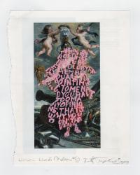 Betty Tompkins, Women Words (Rubens #7)