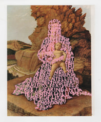 Betty Tompkins, Women Words (Mantegna #1)