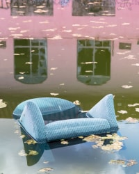 Anastasia Samoylova, Blue Velvet Chair