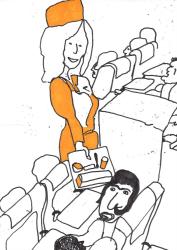 Dick Verdult, Dibujos Pasajeros (stewardess)