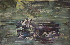 Sam Samiee, Homage to Monet's water lilies offended by the Teheran Mountains