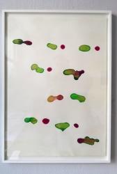 Henriette van 't Hoog, Watercolour, red green gold