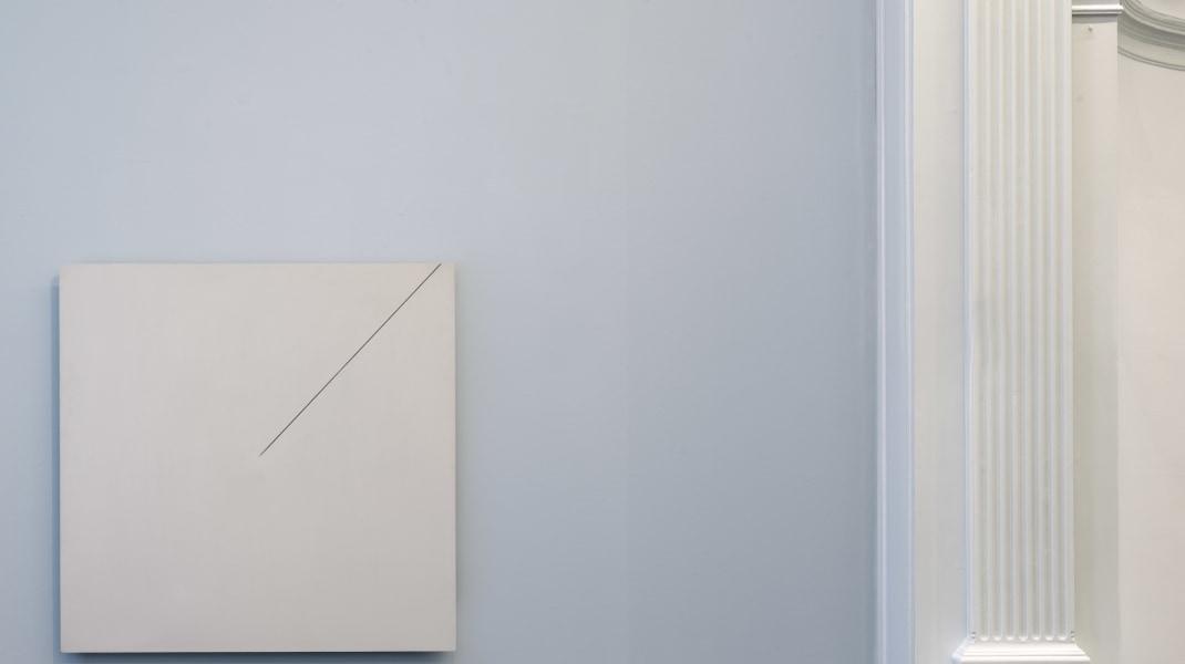 Ad Dekkers, Ad Dekkers'  'Reliëf met 1/2 Lijn' in the exhibition 'From ZERO to 2018' at Upstream Gallery (2018).