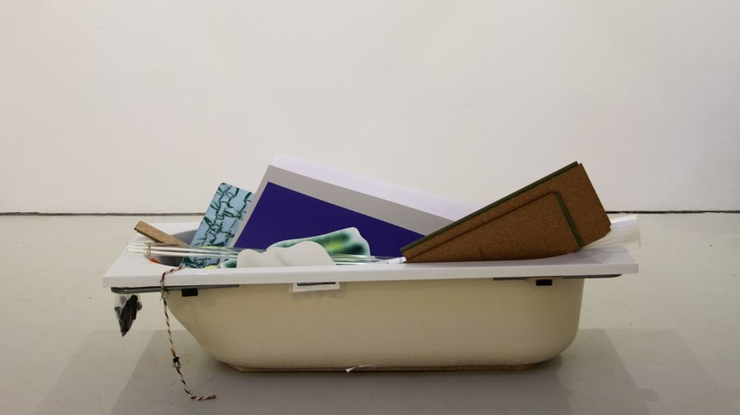 Peggy Franck, A household without responsibilities (2013) Bathtub and multiple materials, by Peggy Franck
