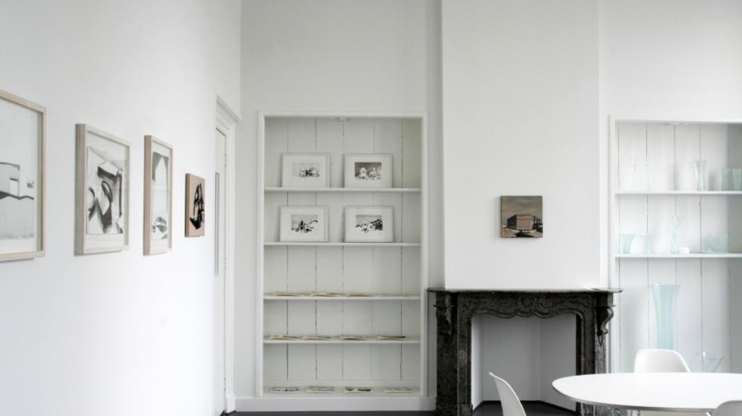 Nanda Runge, zaaloverzicht, 'Landscape with Robbed Bank', Galerie van den Berge, 2017